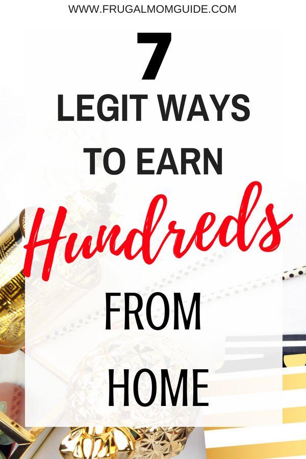 7 Ways to Earn Extra Money from Home – Money, Money, Money