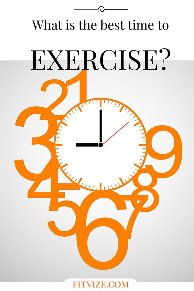 Evening Workout Morning Workout Motivation What is the best time to exercise? If you can't wake up at 6 am to go jogging without hating everyone around you and thinking only about a double shot of hot espresso, perhaps you should consider an evening workout as a better option. If you have the luxury of choosing any time, presumably you will prefer the time when the gym is less crowded and when you feel the most energised. Find out more at fitvize.com