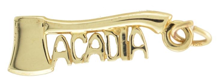 Acadia Axe charm in 10k gold