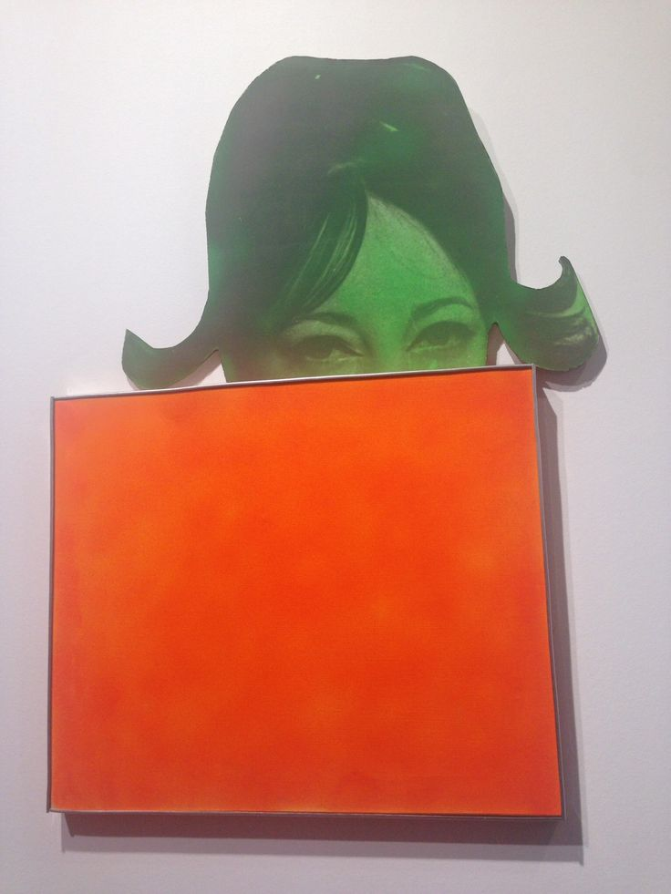 """Martial Raysse 1963 """"La France Orange""""  Oil,Photograph, collage on Canvas and Wood Fiac 2014"""
