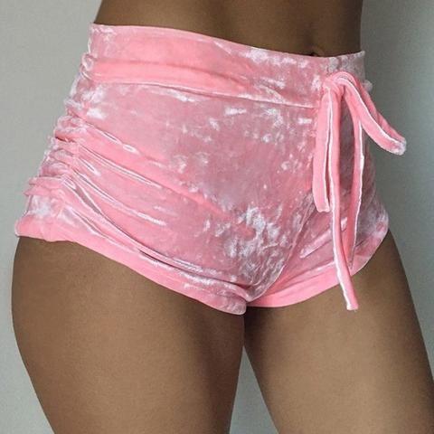Velvet High Waisted Shorts Use Code BB10 for 10% off your order!