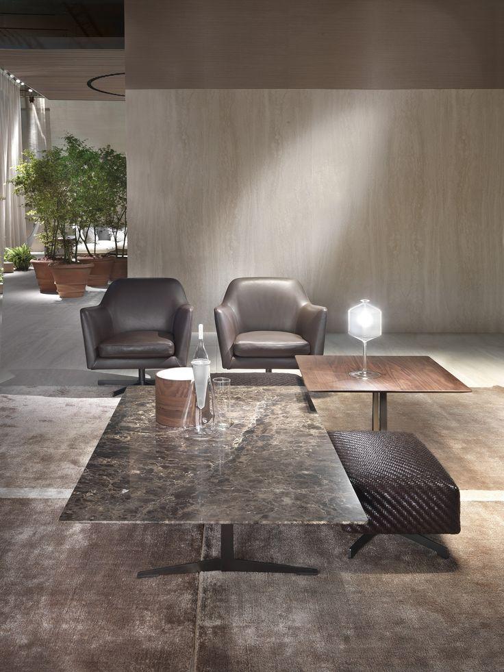 FLEXFORM stand at Salone del Mobile Milano 2016 | #FLEXFORM FLY small #table LUCE #armchair #design Antonio Citterio