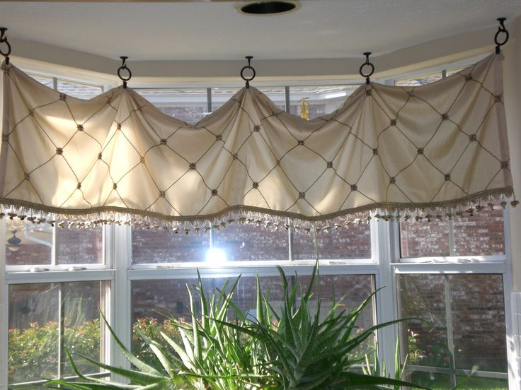Impressive Astounding Kitchen Window Treatments Inspiration For Bay With Extraordinary Curtain And Fresh Plant Decor