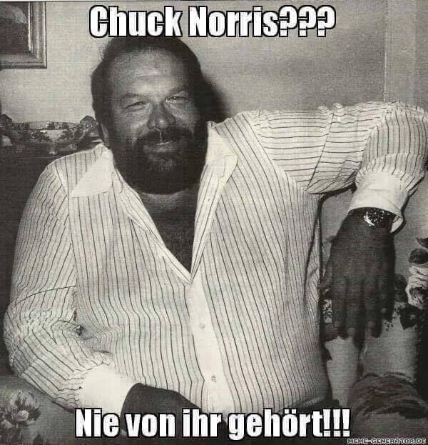 Bud Spencer - mein Held aus Kindheitstagen! Da kann Chuck Norris leider nicht mithalten und mal ehrlich - Wer ist eigentlich Chuck Norris?!