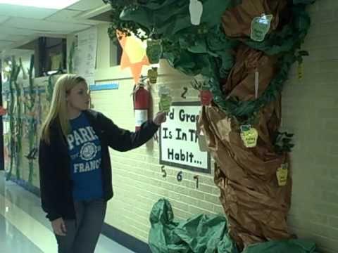 I really want to do this for my classroom..7 Habits Tree