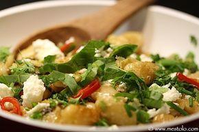 Gebratene weiße Bohnen mit Feta, Sauerampfer und Sumach