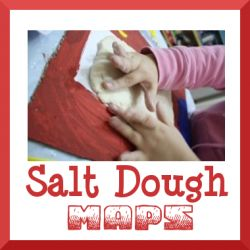 A great hands-on approach to doing a landform map of your state using salt dough!