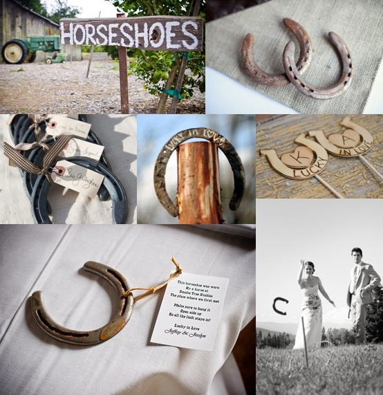 Horseshoe Wedding Ideas from The Wedding Community...It would be cute to somehow incorporate aspects of the engagement into the wedding.