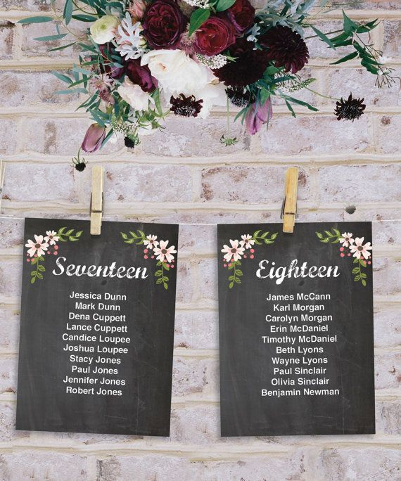 Wedding seating chart ideas templates