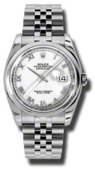 Rolex Datejust 116200 WRJ Steel White Roman Dial 36mm Watch