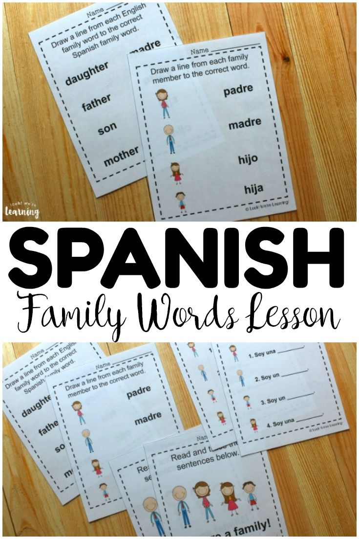 Spanish Family Words Worksheets Look We Re Learning In 2020 Word Families Color Word Activities Word Activities [ 1102 x 735 Pixel ]
