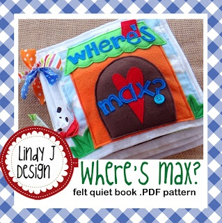 Lindy J Design...where is Max hiding on each page of this cute #quiet book? check it out!