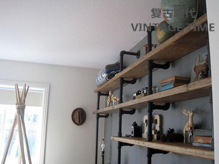 les 8 meilleures images du tableau tag re bois fer forg sur pinterest tag res de. Black Bedroom Furniture Sets. Home Design Ideas