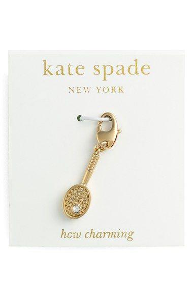 Women's kate spade new york 'how charming' novelty charm - Clear- Tennis Racket Charm