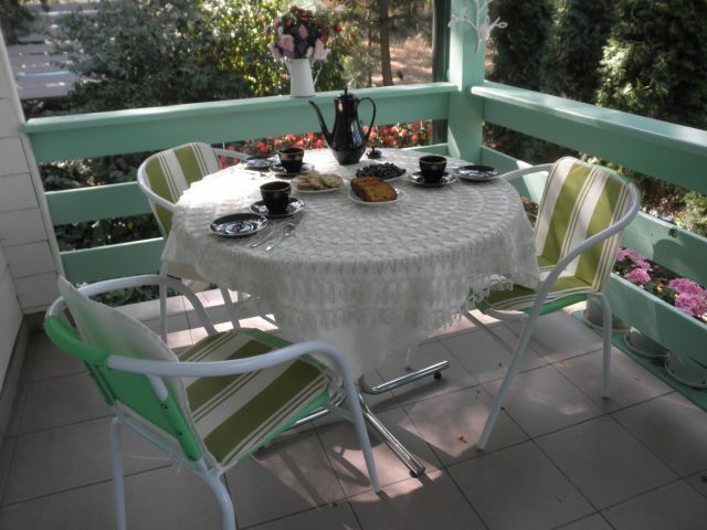 podwieczorek na tarasie --------------------------- teatime on the porch
