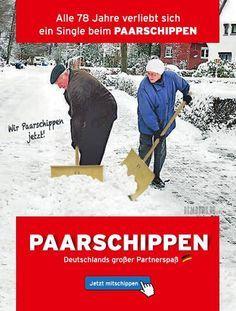German humour - Alle 11 Minuten verhebt sich ein Single. Oder so. Deutschlands neue Leidenschaft! - Wir PAARSCHIPPEN jetzt!Posted by Bembers on Donnerstag, 7. Januar