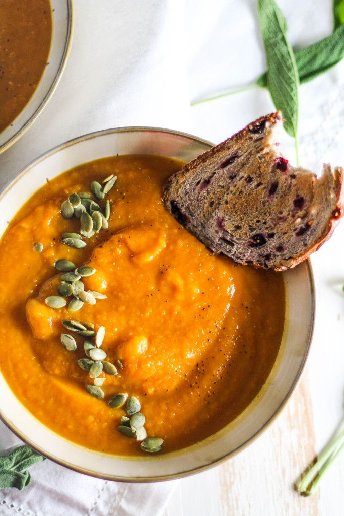 Butternut Squash and Pumpkin Soup | the blissful balance