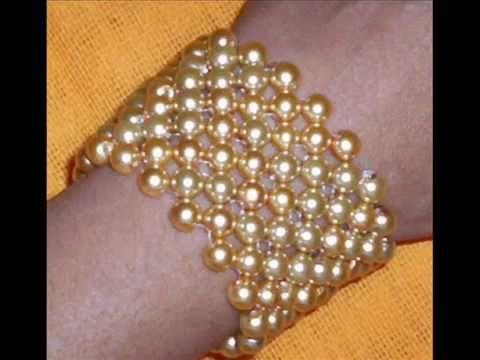 COMO HACER UNA PULSERA CON PERLAS Y CADENAS: innovadora forma de hacer bisuteria con perlas - YouTube