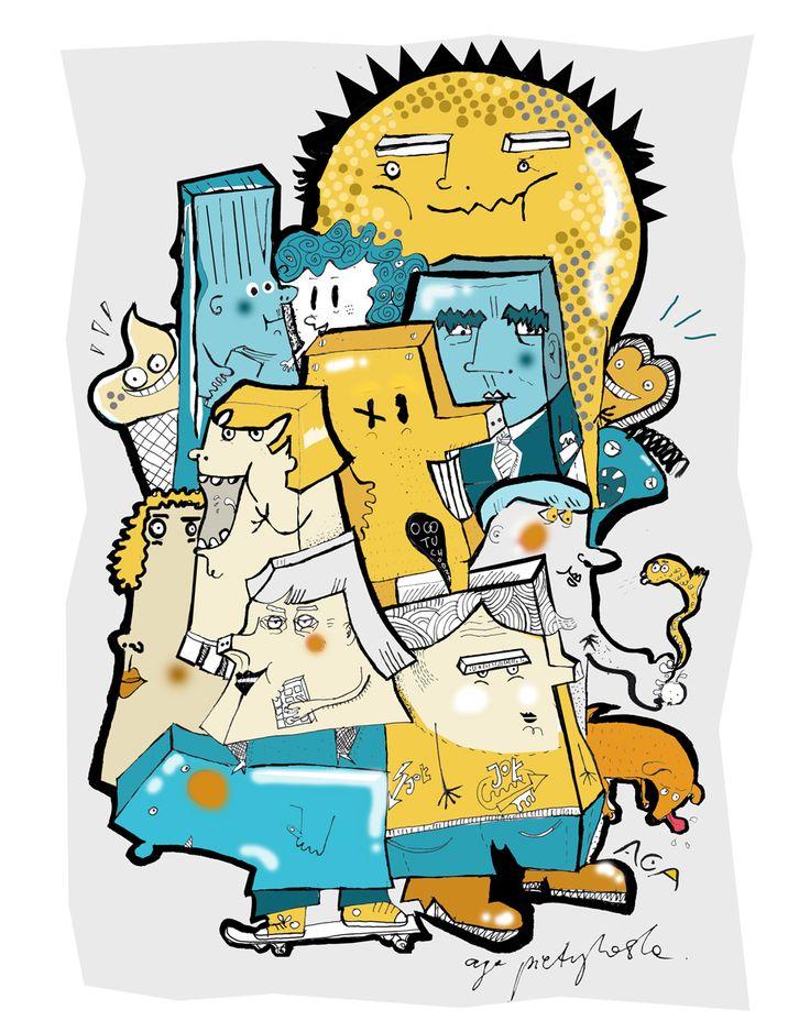 #Aga Pietrzykowska #FriendsFromHolidays #illustration #love