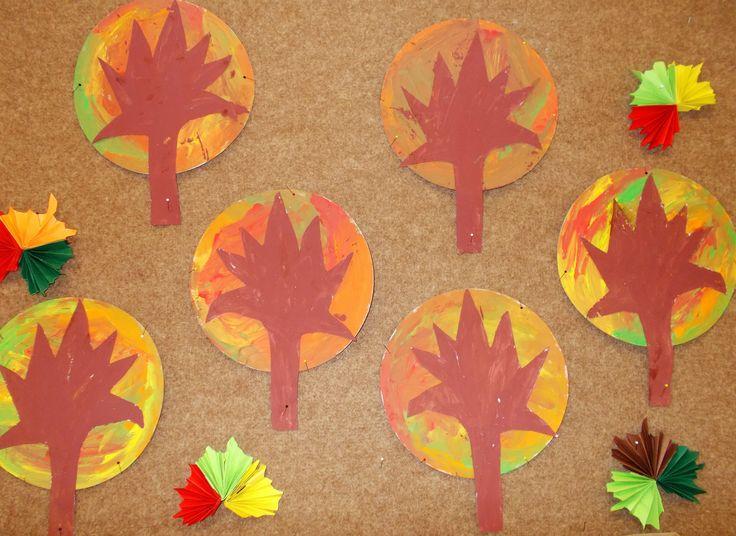 Práce s temperou - barvy podzimu