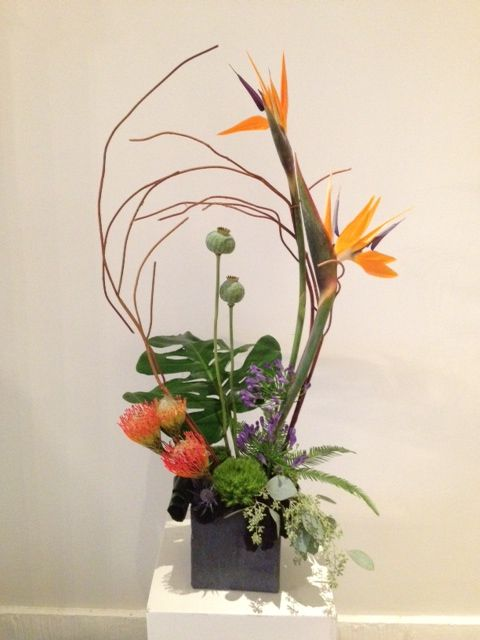 A beautiful Reception display, where space is limited by Dizennio Floral Boutique-Vaughan
