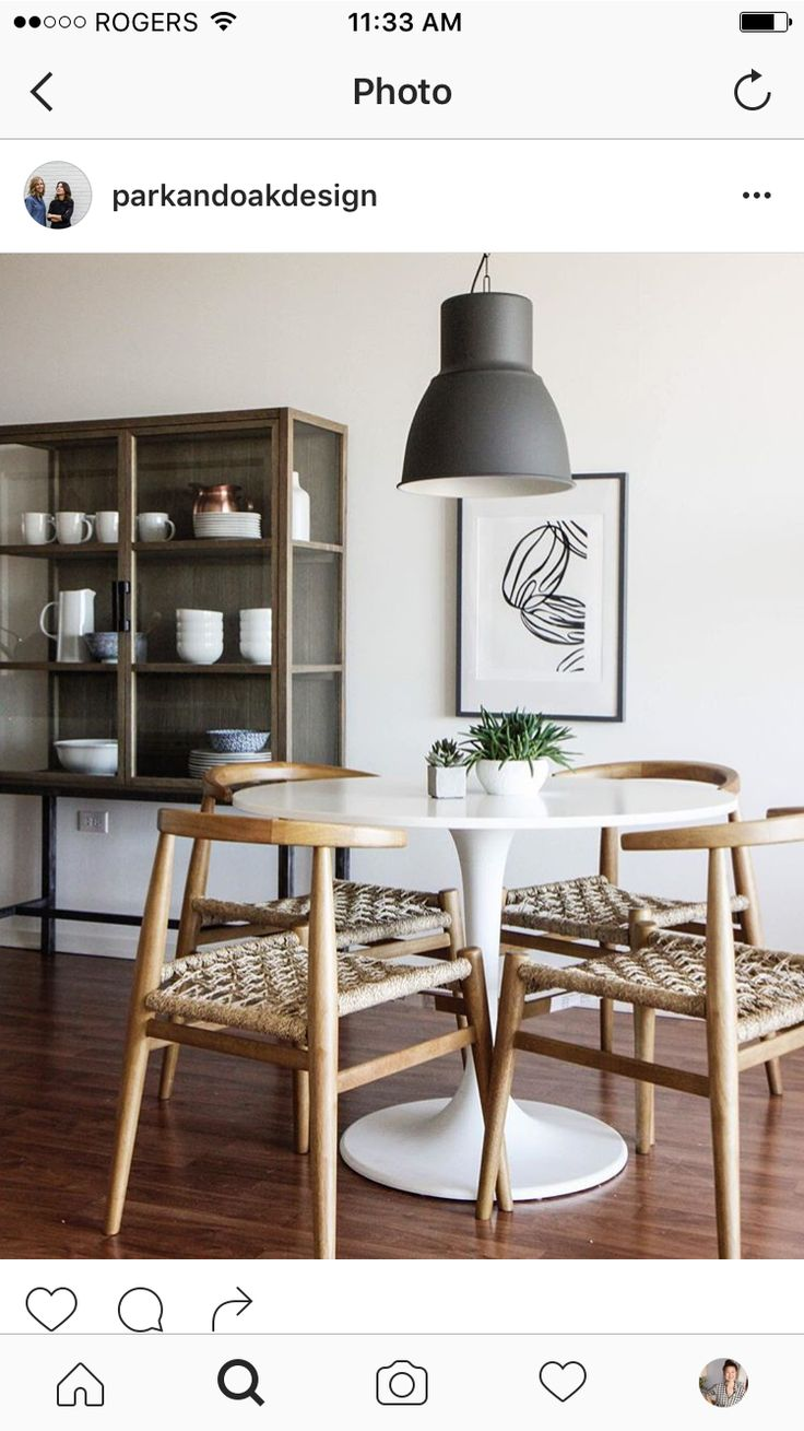 Tulip Table, Dining Area, Dining Chairs, Dining Table, Dining Rooms,  Kitchen Reno, Space Kitchen, Kitchen Dining, The Blog