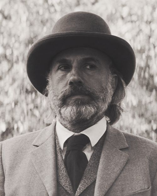 Christoph Waltz as Dr. King Schultz in Django unchained.