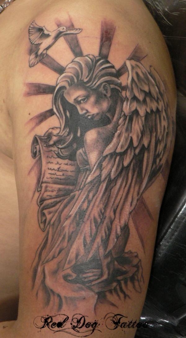 Angel tattoo  - 60 Holy Angel Tattoo Designs  <3 <3