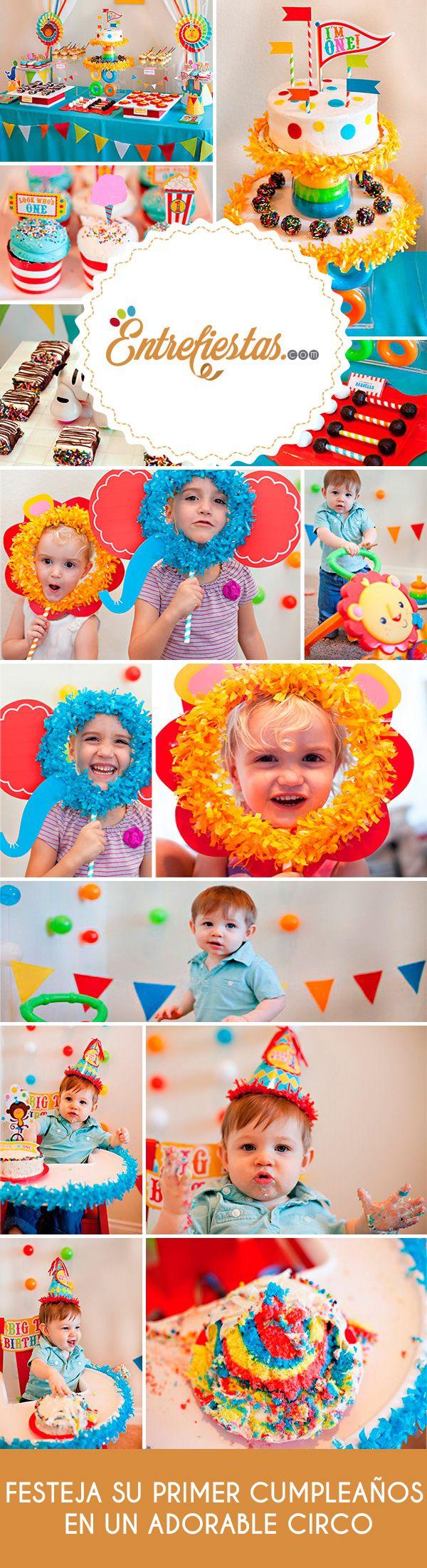 Tu hermoso bebé está creciendo y ya se acerca su primer cumpleaños, sería estupendo que su fiesta fuera tierna y divertida ¿qué te parece un circo con adorables animales? Es una idea genial y fácil de lograr, a continuación te ofrecemos algunas ideas para que pongas a volar tu imaginación.