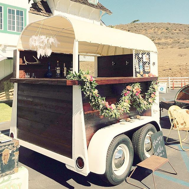 Come down to the @madonnainn1958 Expo to see our newest vintage event trailers in person .. like our 1948 Trail King Horse Trailer Bar! We will be here till 4pm! #vintagetrailer #tinkertin #ido