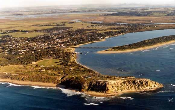 Barwon Heads, Victoria - Bluff and Barwon River views..Geelong and the You Yangs in the distance