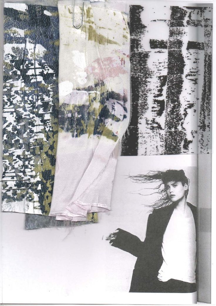 Fashion Sketchbook - printed fabric swatches; fashion design research; fashion portfolio // Amy Dee