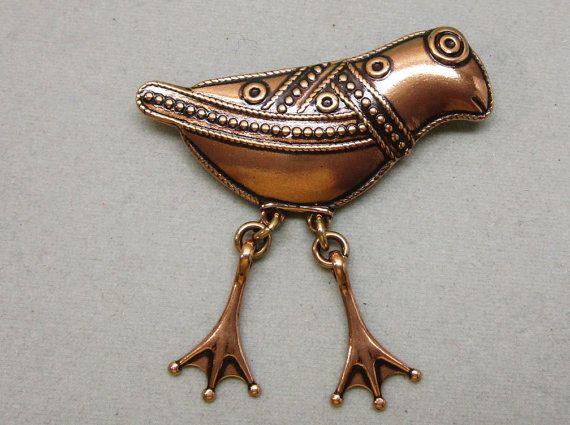 Finland Modernist Hattula Bird Pin Kalevala Koru by COBAYLEY
