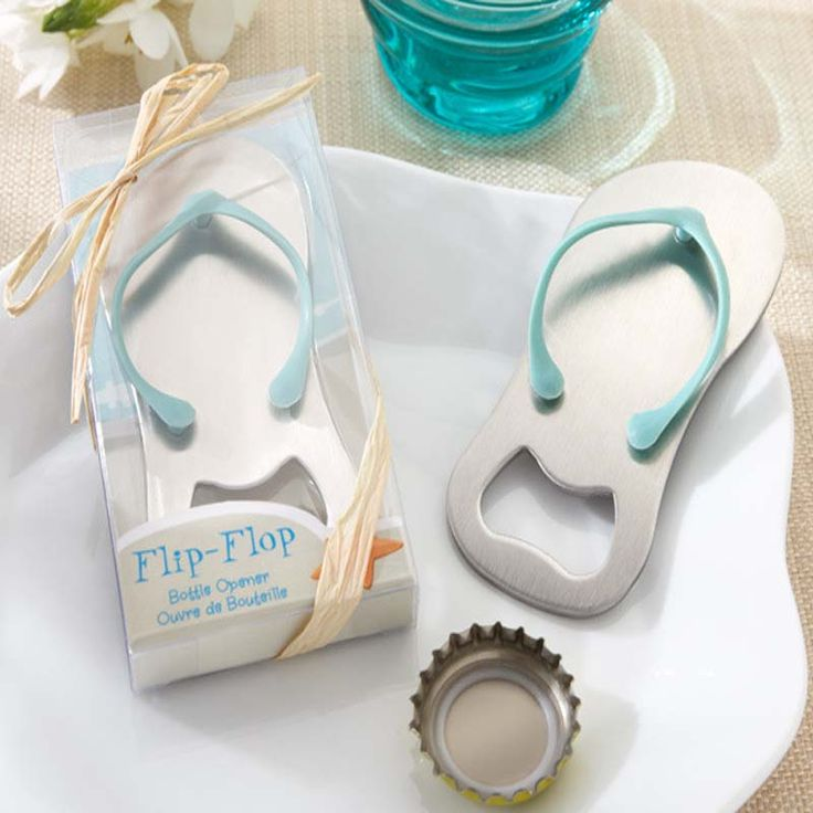 1Pc Beach Flip Flops Bottle Opener Corkscrew Bridal Shower Wedding Favors wholesale A356
