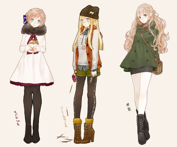 Anime Fashion Illustration Pesquisa Google Fashion