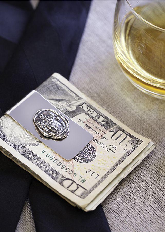 Love Conquers All Money Clip for the groom  http://pyrrha.com/mens #PyrrhaJewelry #GiftsForHim