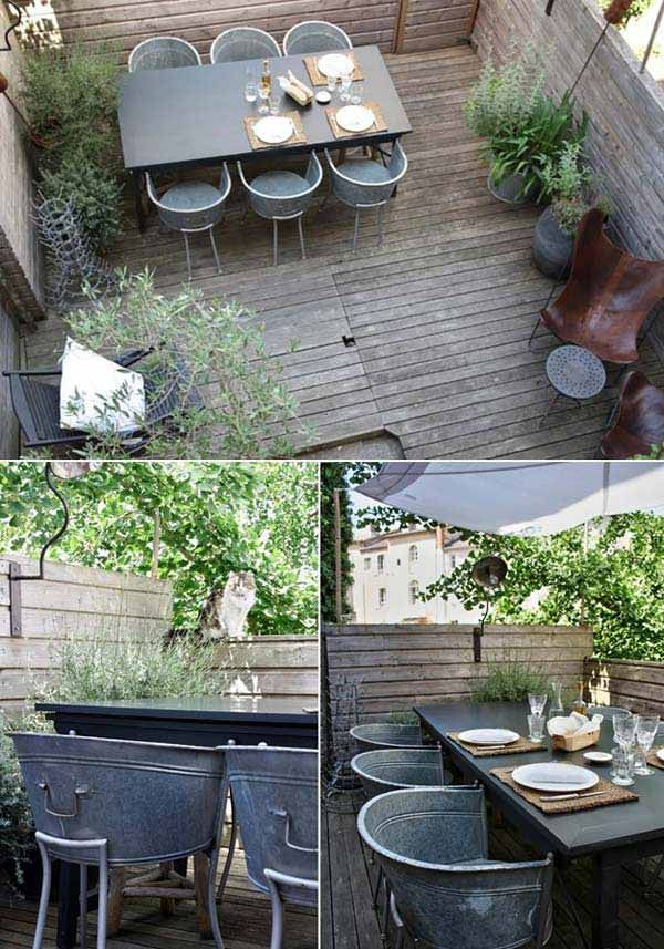 33 Insanely Smart Ways To Repurpose Galvanized Buckets And Tubs  Homesthetics Industrial Decor
