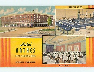 Unused Linen Anthes Hotel Restaurant Ft Fort Madison Iowa Ia Q7006 34 Burlington Wever And Pinterest Forts Restaurants