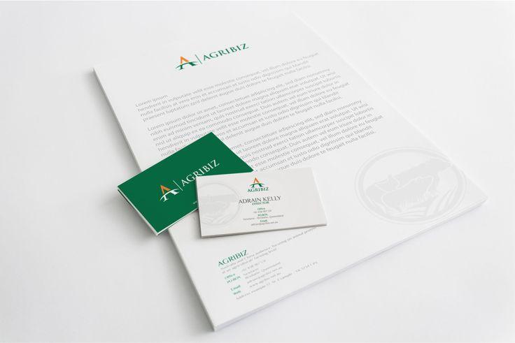 AGRIBIZ Logo and Stationery.