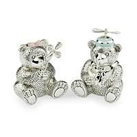 """Girl Reed & Barton Silverplate Bear Bank"": ""From Reed & Barton The Girl Bear Bank with… #Jewelry #ClearanceJewelry #DiscountJewelry"