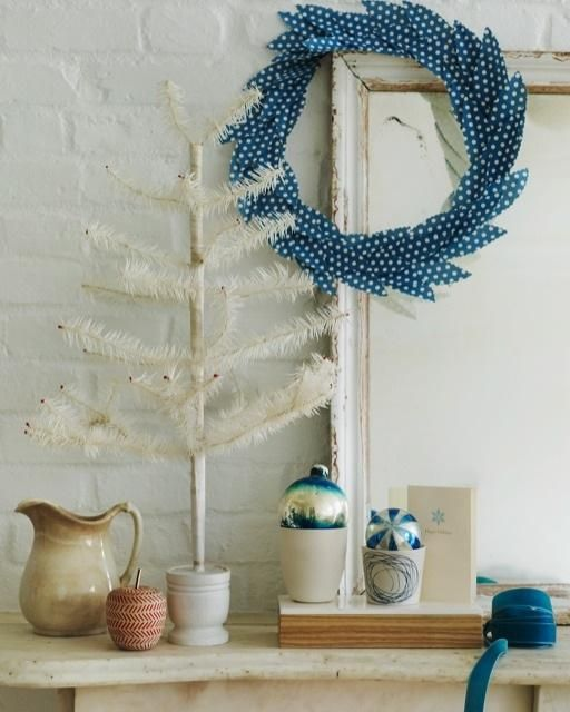 Sweet Paul's Blue Paper Wreath