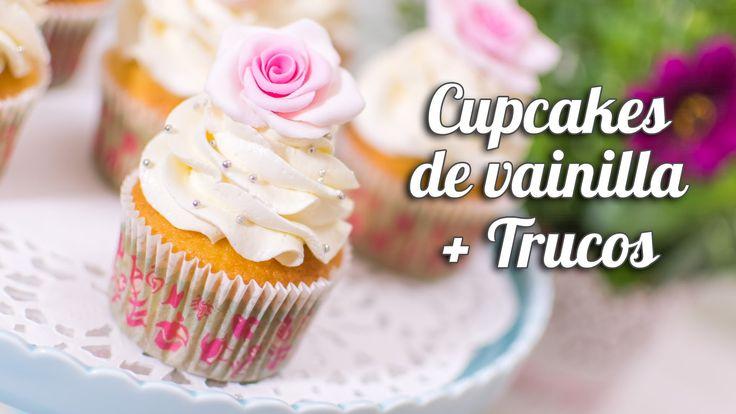 Cupcake de vainilla + trucos para cupcakes perfectos | Quiero Cupcakes!