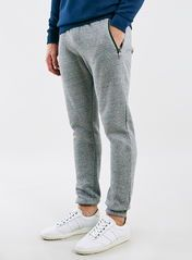 Grey Salt And Pepper Zip Joggers