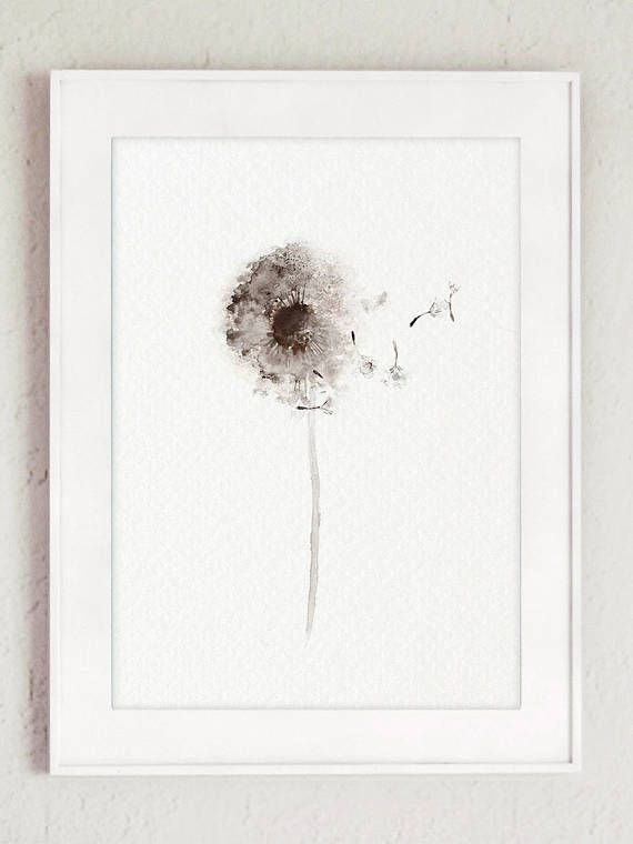 Dandelion Watercolor Canvas Art Print set of 4 Paintings. Brown Taupe Botanical Living Room Decor Gift Idea. Minimalist Abstract Nursery Art Print. Beige Floral Illustration. A price is for the set of 4 different Dandelion Art Prints as in the first Picture. In the first Picture the