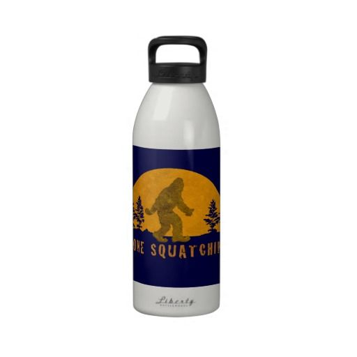 Gone Squatchin' Awesome Vintage Sunset Water Bottle