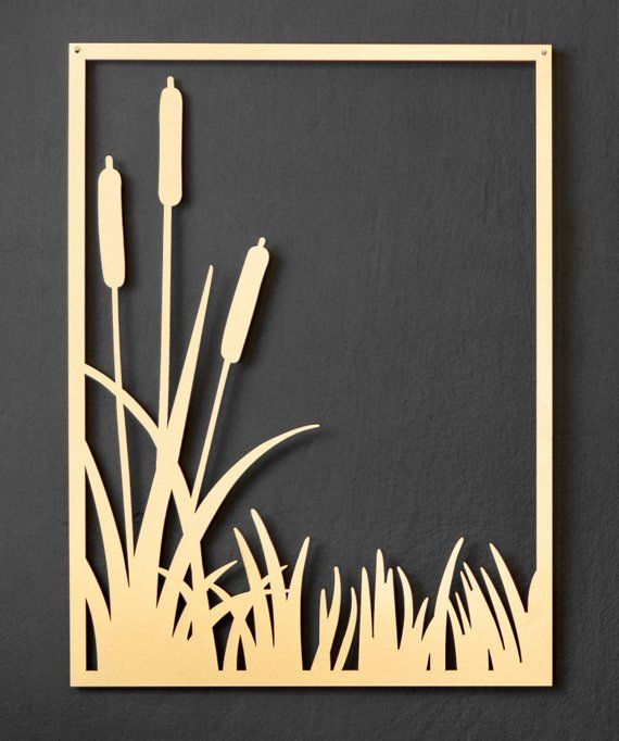 df73c8eb24 Set of 3 metal wall decor - 3 metal gold pictures, gold metal wall ...