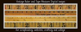 Knick of Time: Antique Graphics Wednesday - {Rulers and Tape Measures}  I will be using these as guides for my growth chart! Amazing!!