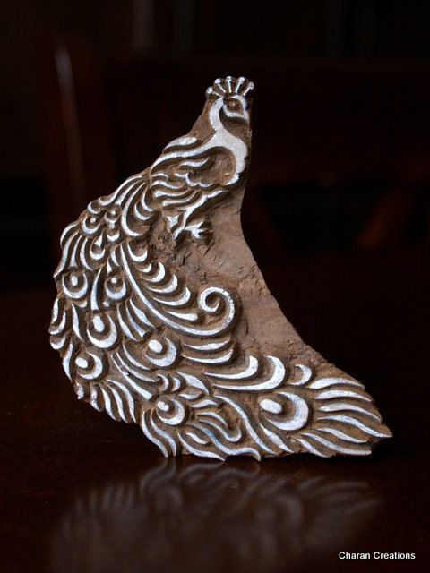 Hand Carved Indian Wood Textile Stamp Block by charancreations, $22.00