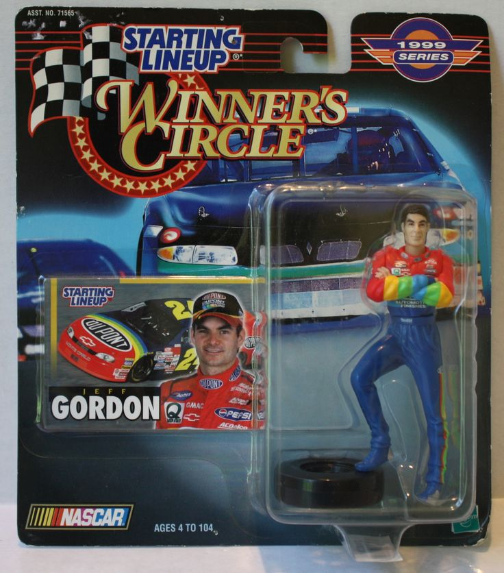 (TAS020318) - 1999 Starting Lineup Winner's Circle NASCAR - Jeff Gordon standing
