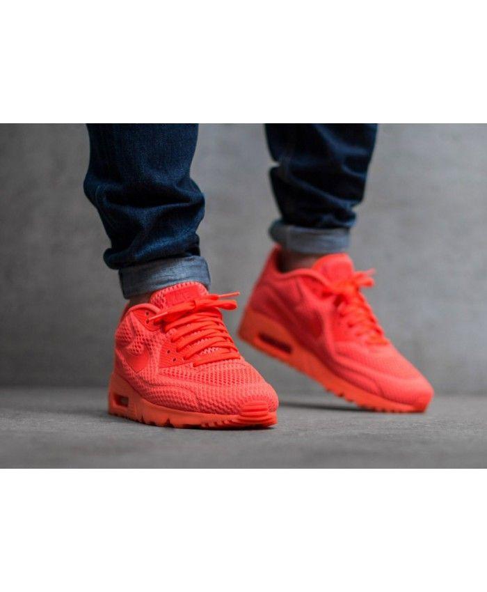 meilleur service 18508 50184 Nike Air Max 90 Ultra Breathe Whole Crimson Shoes Sale ...